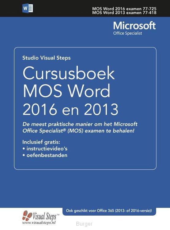 Cursusboek MOS Word 2013 / Basis