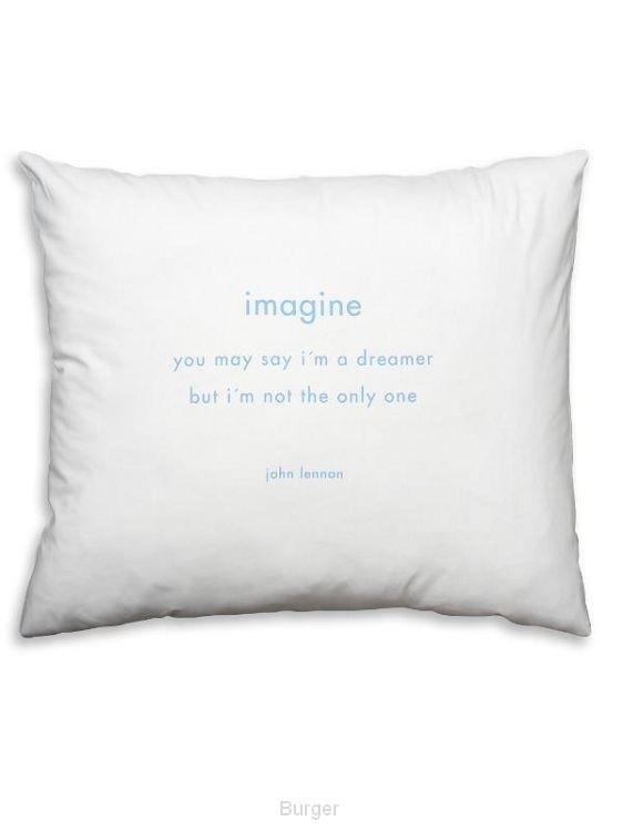 John Lennon gedicht;Imagine,op kussensloop SL25