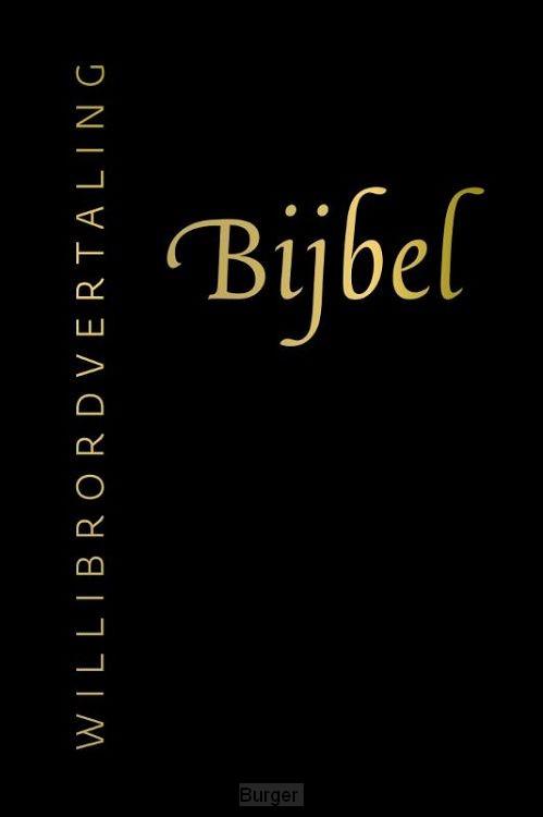 Bijbel willibrord zwart leer goudsn rits