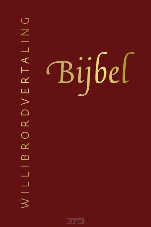 Bijbel willibrord rood leer goudsnee