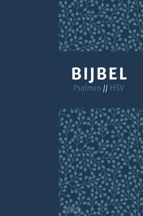 Bijbel HSV psalmen vivella blauw 12x18cm