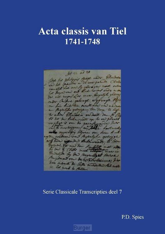 Acta classis van Tiel 1731-1748