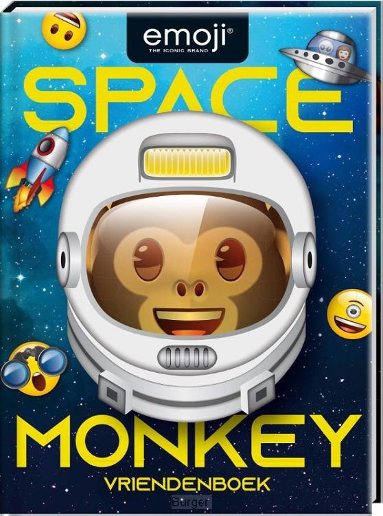 Vriendenboek - Emoji Space Monkey