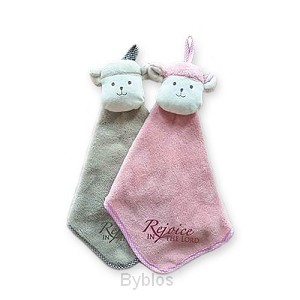 CUDDLE CLOTH LAMB PINK REJOICE IN THE LO