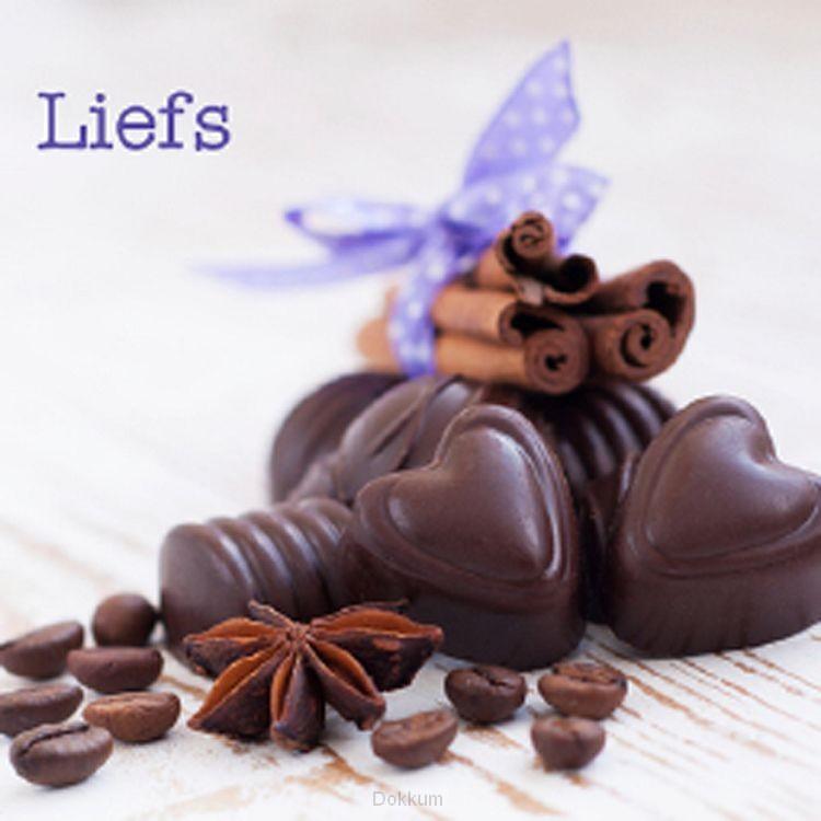 Kadokaartje liefs chocola