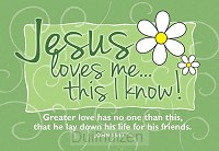Pio Jesus loves me this I know set10