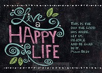 Postcard live happy life set6