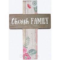 Mini wall cross cherish family