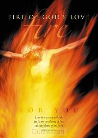 Poster a4 fire of Gods love for you