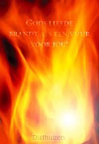 Wenskaart Gods liefde brandt