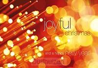 Wenskaart joyful christmas and