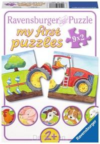 Puzzel 9x2 stukjes boerderij