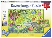 Puzzel 2x12 Dieren in onze tuin