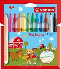 Viltstiften Trio Jumbo 12 stuks