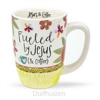 Mug fueled by Jesus (and coffee)