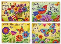 Cards Thinking of you Watercolor Garden
