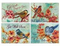 Cards Get Well Flowers & Birds (4)