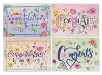 Cards Congrats Watercolor Flowers (40