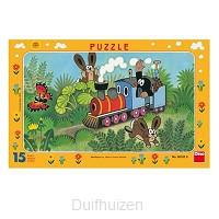 Puzzel 15 stukjes Trein