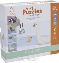 Puzzel 4 in 1 gans