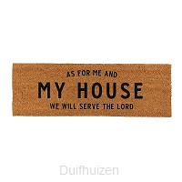 Doormat As for me and my house