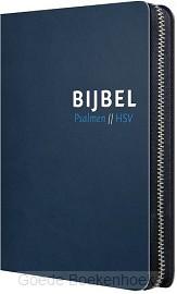 BIJBEL HSV MET PSALMEN BLAUW LEER