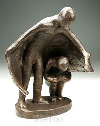 Beeld 1131 mantelzorg 22 cm brons