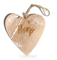 Houten hart hoop
