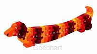 Houten puzzel Hond - Alfabet