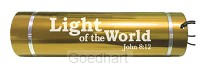 Led torch light-light of the world gold