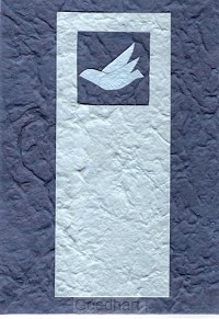 Bybelomslag duif blauw
