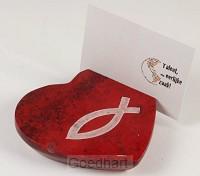 Kaarthouder hartvorm rood