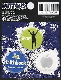 Button iPray, Faithbook, Think Christian