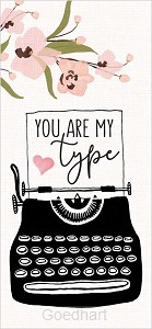 Houten blokje You are my type