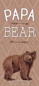 Houten blokje Papa Bear