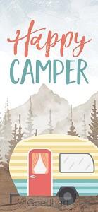 Houten blokje Happy Camper