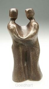 Beeld 704b ontmoeting 13 cm brons
