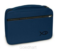 Bible Cover Fish Navy