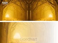 Panoramawenskaart poort naar het licht