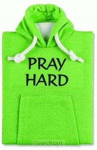 Hoodie notebook pray hard