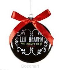 Christmas ornament let heaven