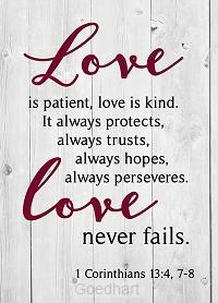 Journal love is patient