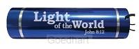 Led torch light-light of the world blue
