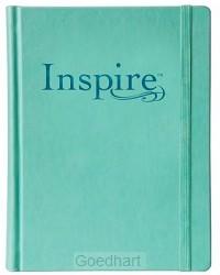 Inspire NLT bible hardcover aqua