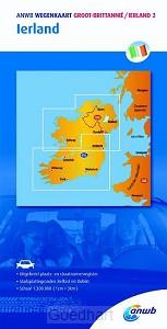 ANWB wegenkaart Groot-Brittannië 2. Ierl