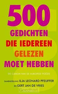 500 gedichten die iedereen gelezen moet