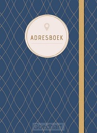 Adresboek (klein) - Dark Blue