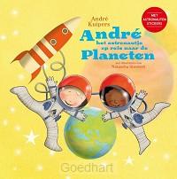 Andre het astronautje op reis naar de pl