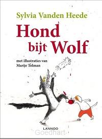 Hond bijt wolf / druk 1