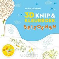 3D Knip- en kleurboek